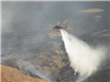 Helicopter Spraying Water in a Valley