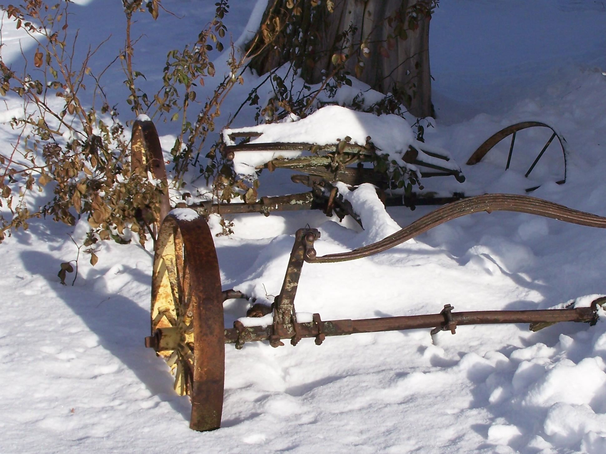 Antique in the Snow